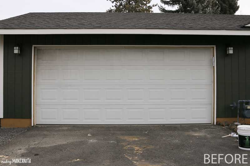 Do you have an old grimy garage door like this?