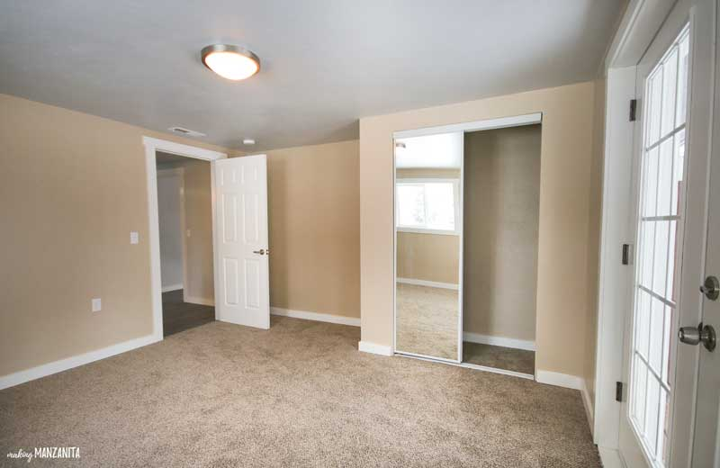 Before image of the master bedroom without any furniture and decorations yet.