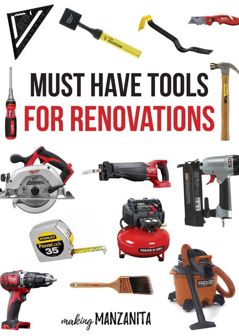 Must Have Tools For Renovations | What You Need For Your First Upper | Versatile Tools For Renovating | Tool Checklist | Tools Every DIYer Needs |