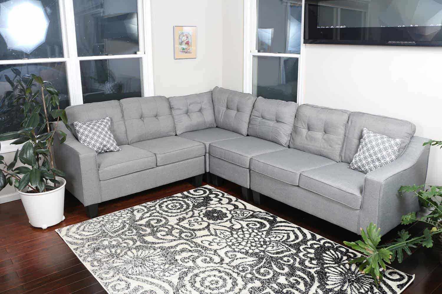 Modern contemporary grey sectional