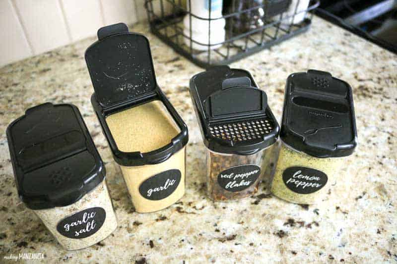 I couldn't pass up grabbing some of mini keepers storage containers. These are perfect for some of those spices that we use more regularly and want to keep larger portions in the spice cabinet. I love that you can both pour and shake out of these. #ad