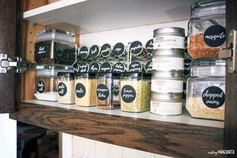 Brilliant spice cabinet organization makeover with World Market #ad