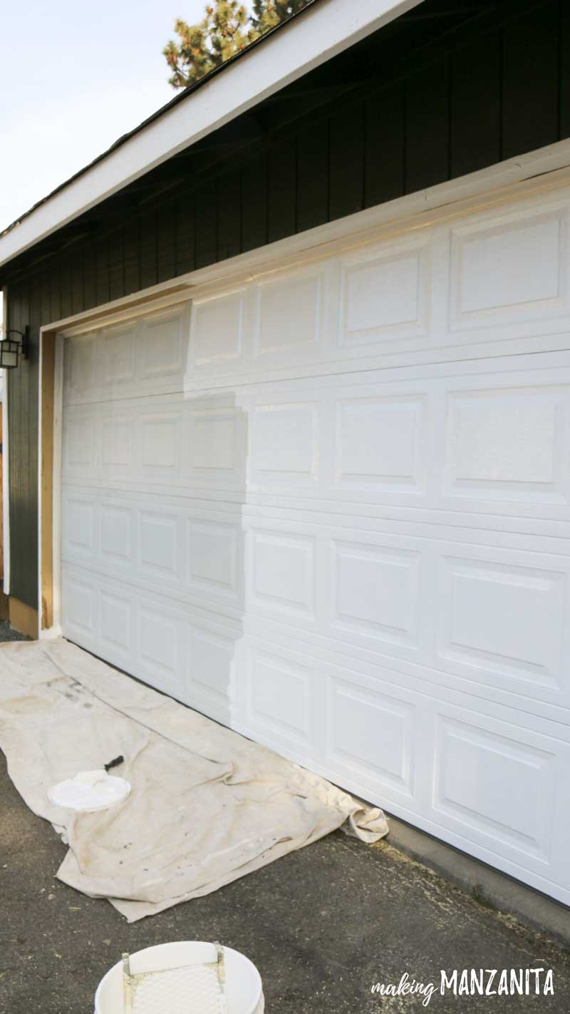 Garage paint tutorial - Painting your garage door is an easy way to improve curb appeal for your home's exterior | 9 tips for painting your garage door | How to paint garage door
