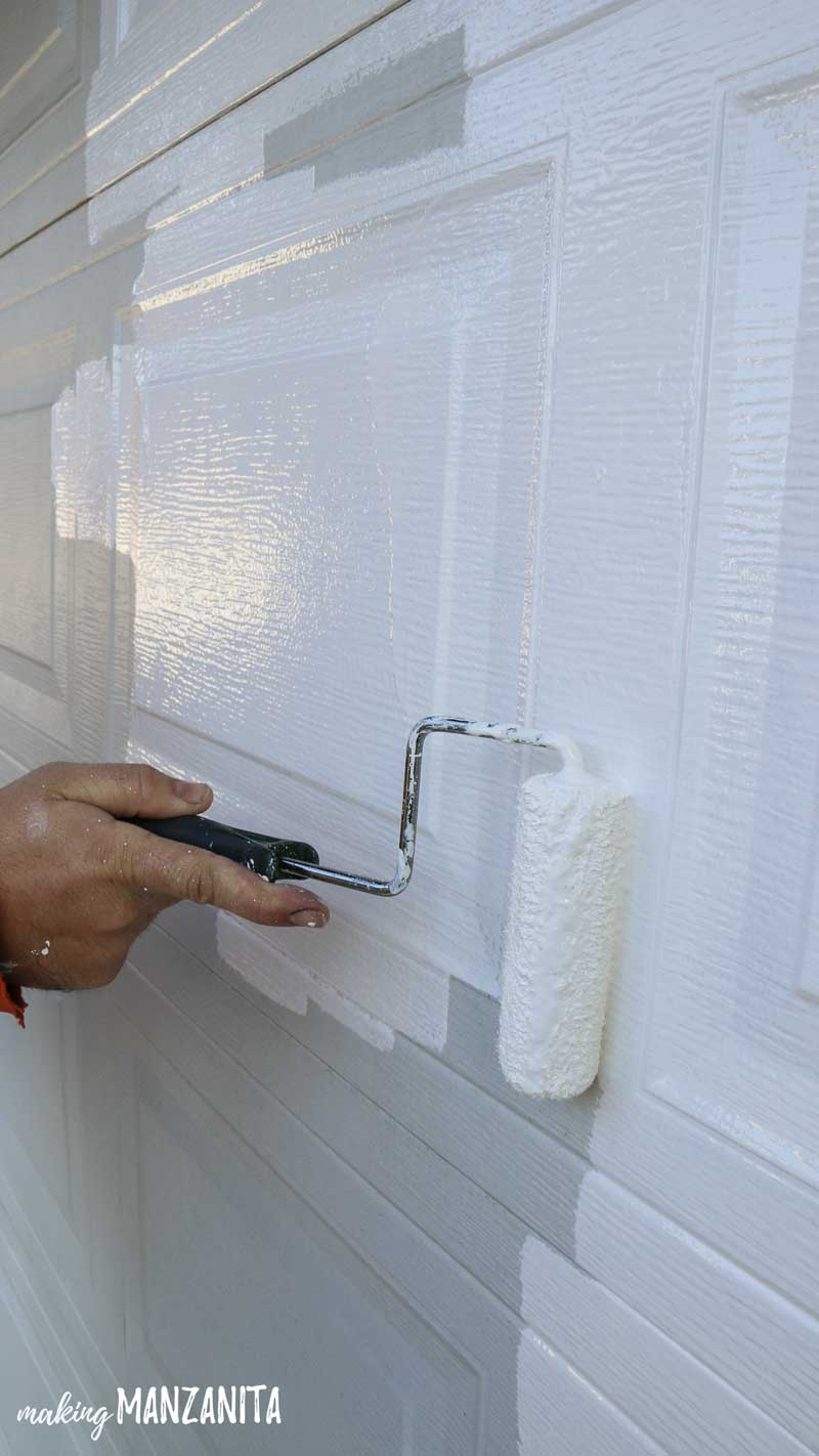 How to paint garage door