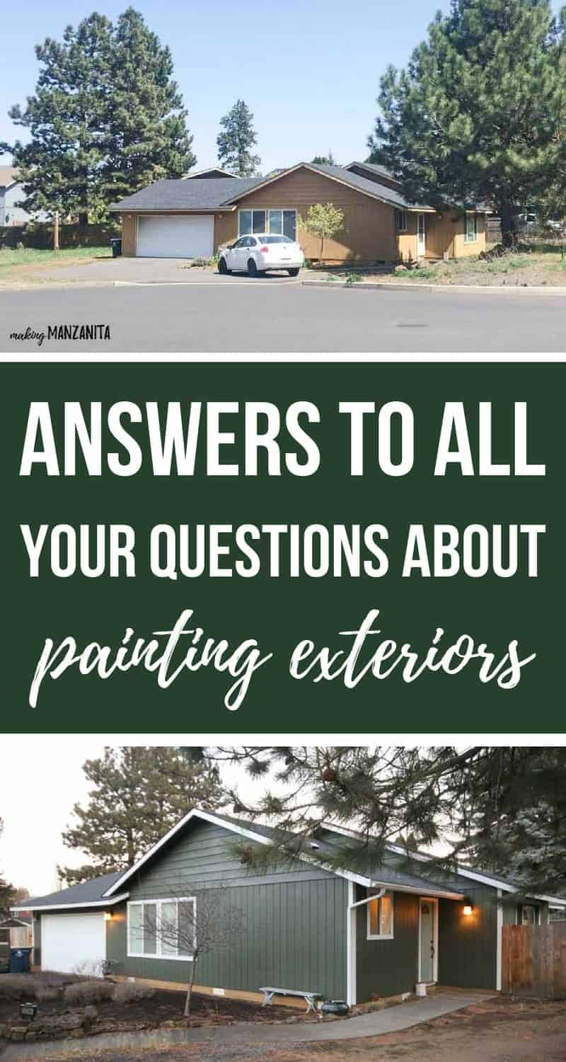 I need to paint my house exterior! Answers To Your Paint Questions
