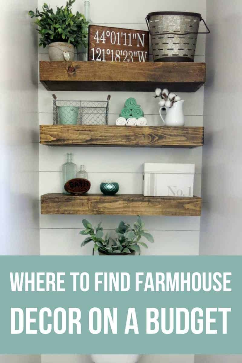 Where to find farmhouse decor on a budget | Budget friendly fixer upper style decor | Best places to shop for Magnolia style decorations | How to decorate like Joanna Gaines with the farm house look for less