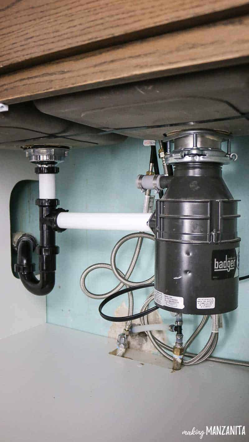 Badger garbage disposal under sink