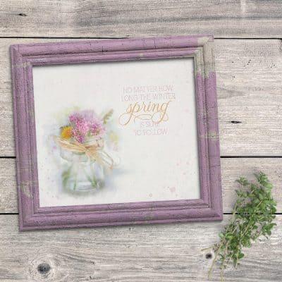 Farmhouse Spring Art Printable To Easily Decorate For Spring