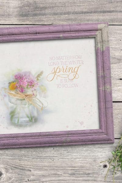Farmhouse Spring Art Printable To Easily Decorate For Spring