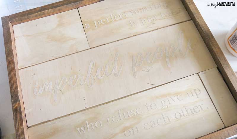 Use a Silhouette Cameo to make stencils for farmhouse style lettered signs