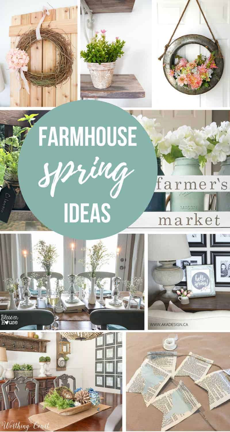 10 Farmhouse Decor Ideas for Spring You've Got To Steal | Beautiful Fixer Upper Style Decorating Ideas for Porch Mantel Table Centerpiece and Shelves | Wreath Inspiration for Spring | Decorating with Faux Flowers and Plants in Springtime Just Like Joanna Gaines