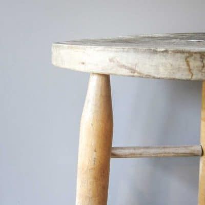How to Upcycle A Bar Stool Into A Narrow Bedside Table