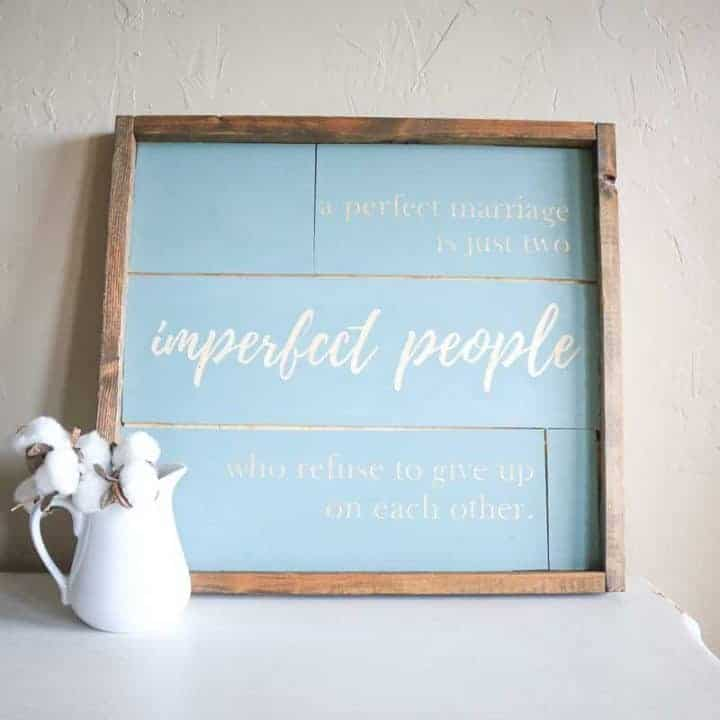 How to Make A Farmhouse Sign with Shiplap