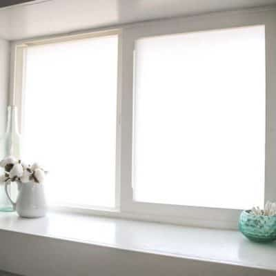 Frosted Window Film for Bathroom Privacy