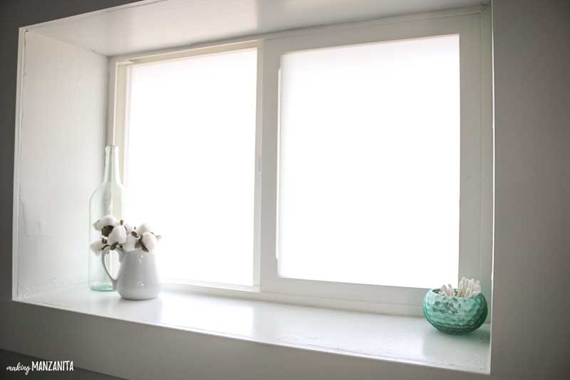 How To Add A Privacy Window Film To Bathroom