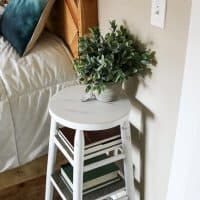 Upcycle a bar stool as a nightstand