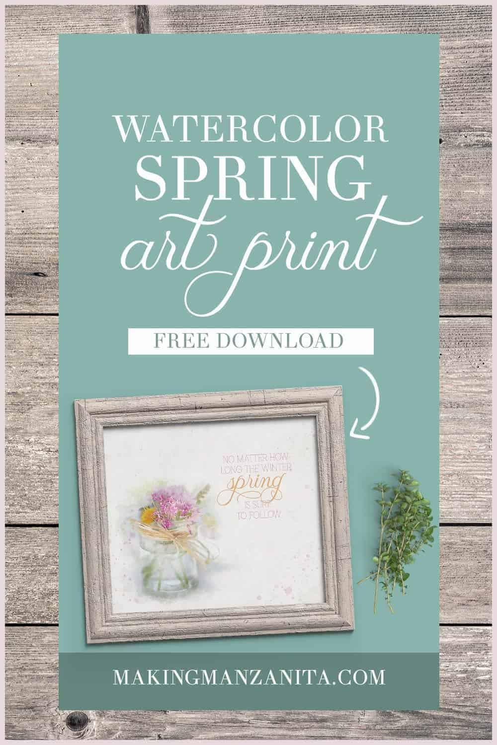 Printables are such a great way to easily decorate for the seasons. If you're wanting to add a little spring cheer to your home, you're going to love this farmhouse spring art printable to easily decorate for spring!