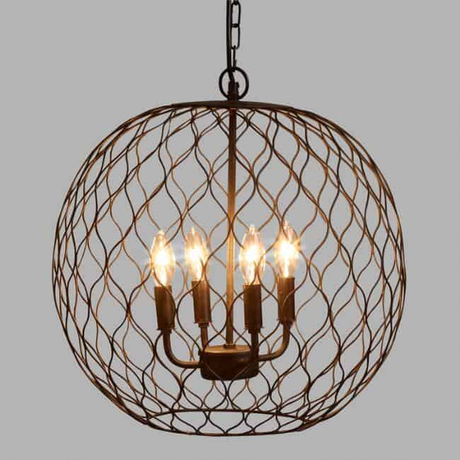 Dark Bronze Globe Farmhouse Chandelier from World Market