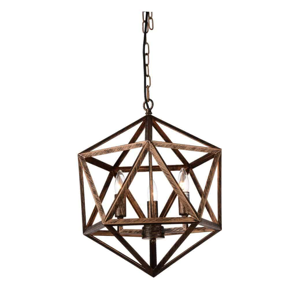 Amazon 3-Light Antique forged copper Chandelier from Home Depot