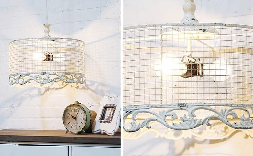 DISTRESSED WHITE PARISIAN CHANDELIER from Bits of Vintage