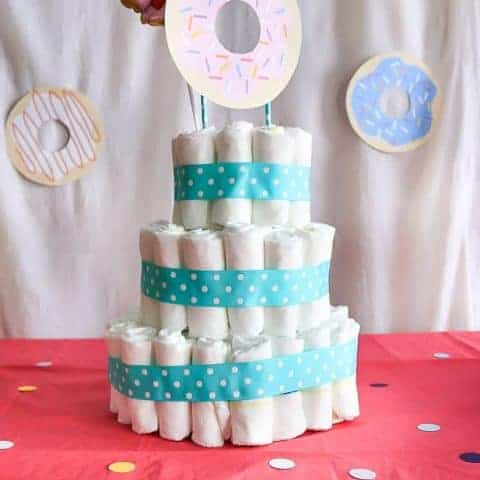 How To Make A Baby Diaper Cake
