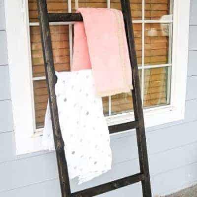 Baby Blanket Ladder For Modern Farmhouse Nursery