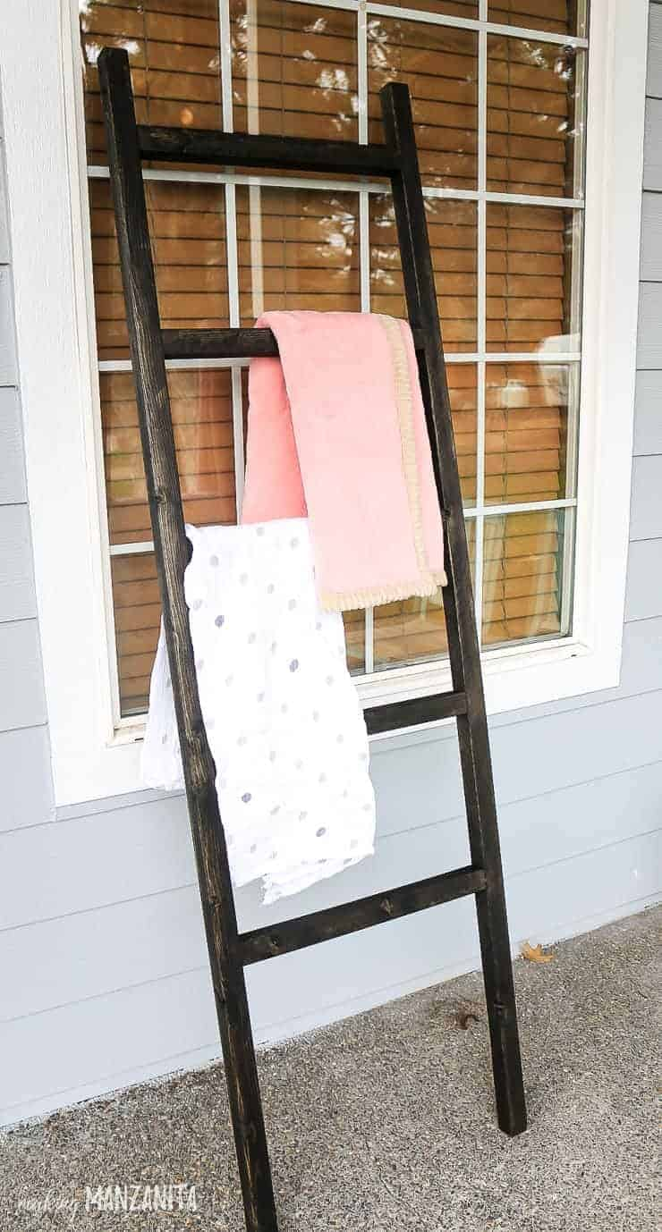 Blanket Ladders Have Been All The Rage For Years Now And I Cant Believe We Waited This Long Before Building One It Was Sooooo Simple To Make And I Love