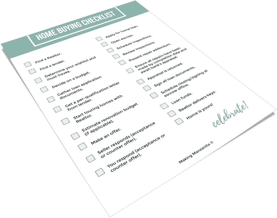 This is a graphic of Home Buying Checklist Printable with regard to mortgage