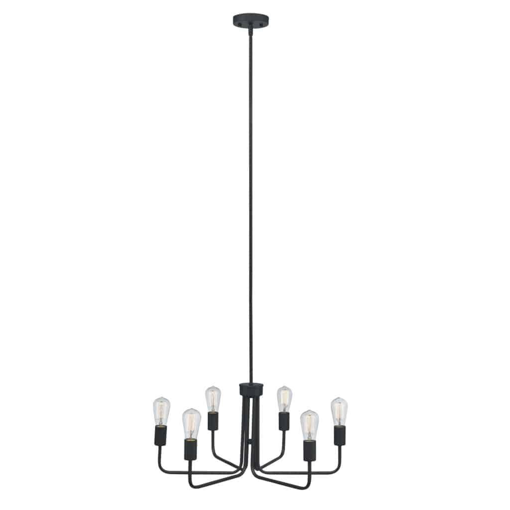 Modern 6 Light Chandelier
