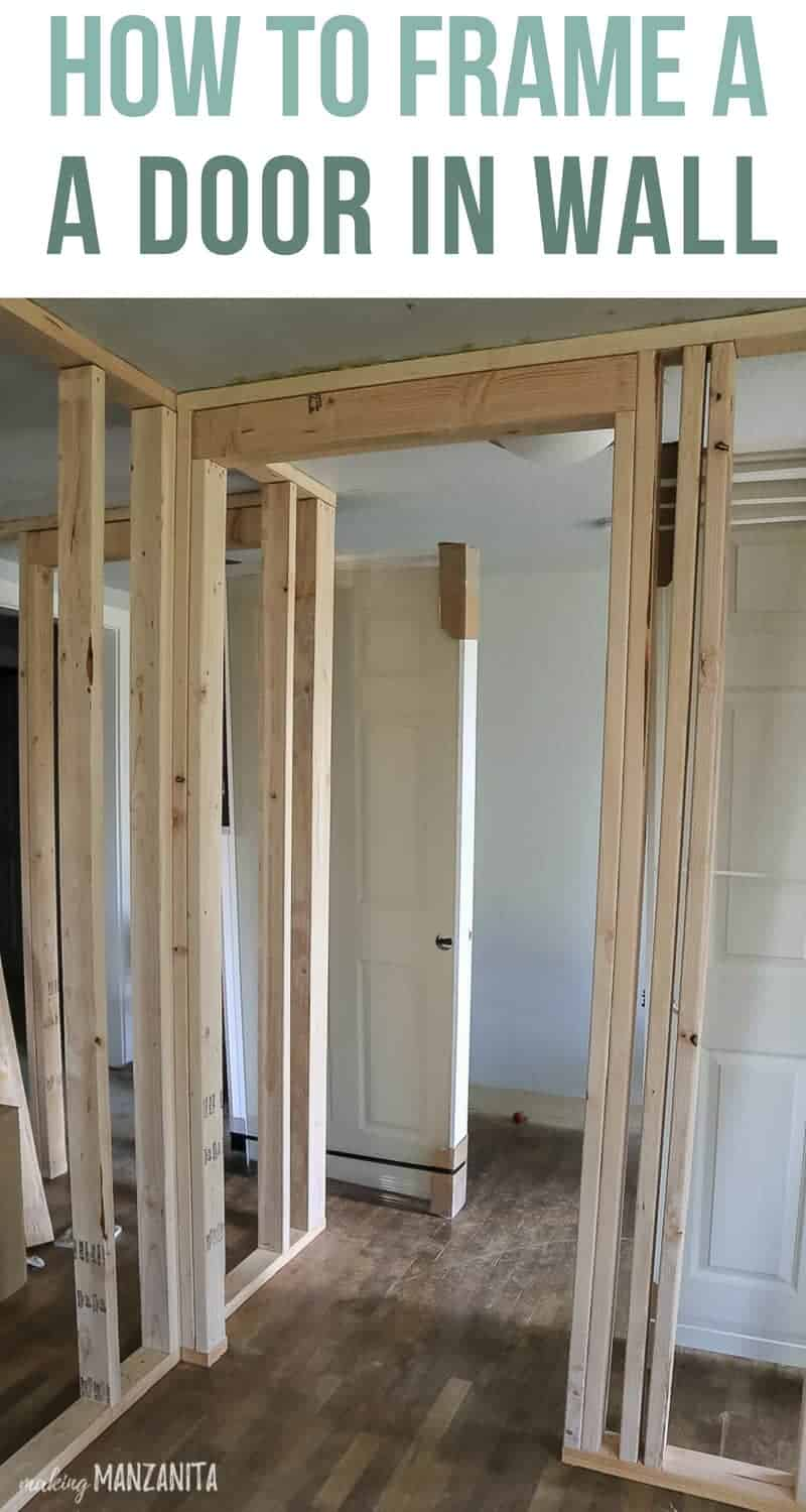 How To Build A Wall Part 2 Framing A Door Making