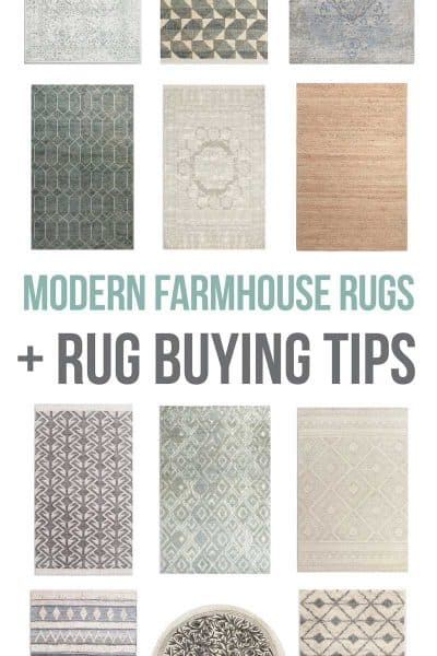 Modern Farmhouse Rugs + Rug Buying Tips
