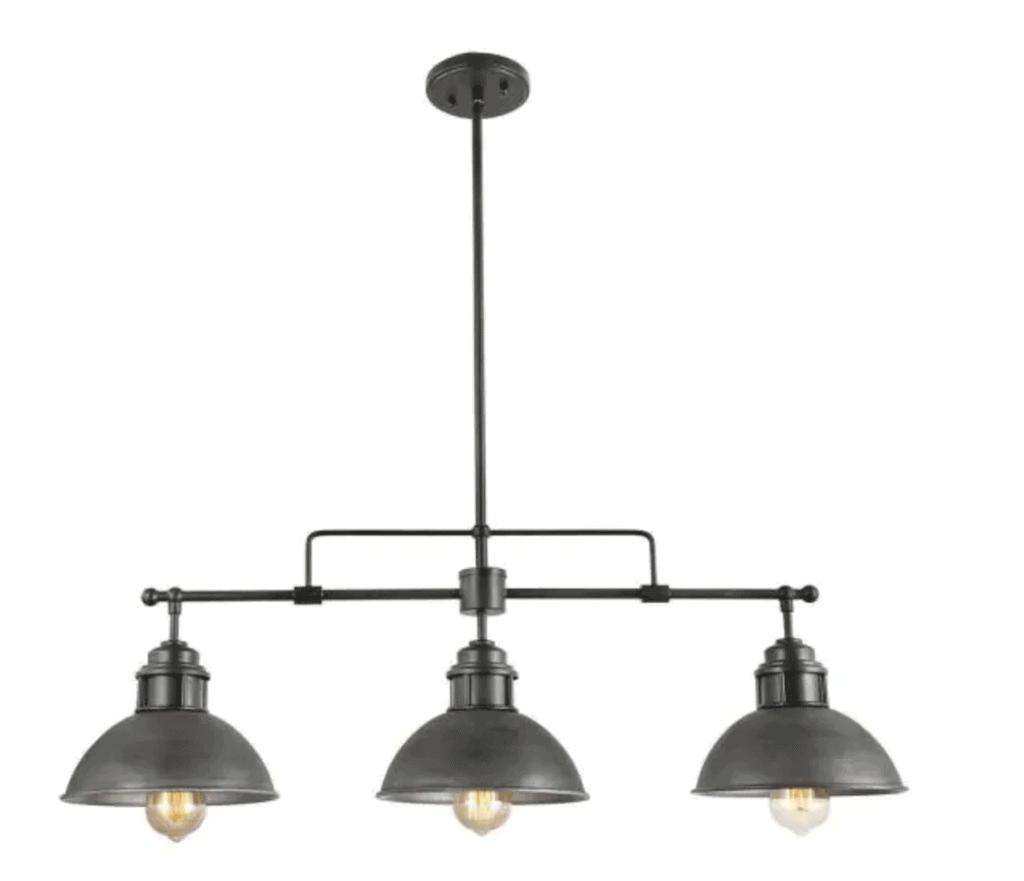 3 Light Industrial Barn Light Fixture