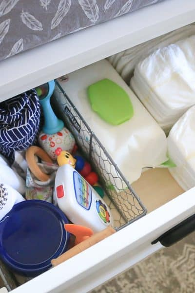 Baby Changing Table Organization
