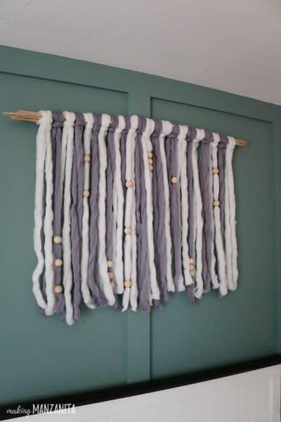 DIY Yarn Wall Hanging For Boho Nursery