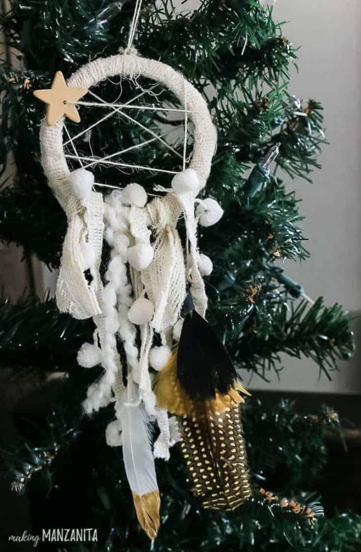 Diy Dreamcatcher Ornament For Boho Christmas Tree Making Manzanita
