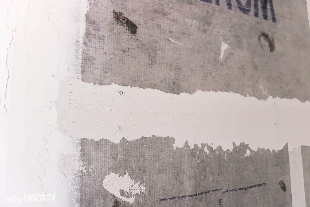Seams of cement backer board when doing shower tile installation