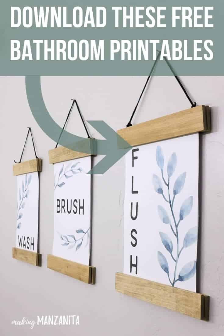 image about Free Printable Bathroom Pictures named Do-it-yourself Body For Printables (+ No cost Lavatory Printables)