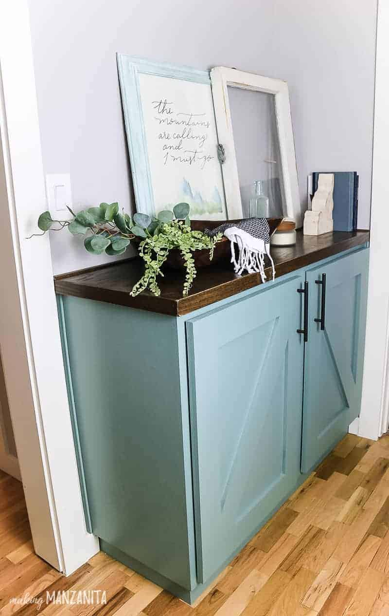 Diy Hallway Cabinet Tutorial No Complicated Joinery Making Manzanita