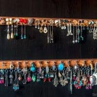 Make your own earring organizer