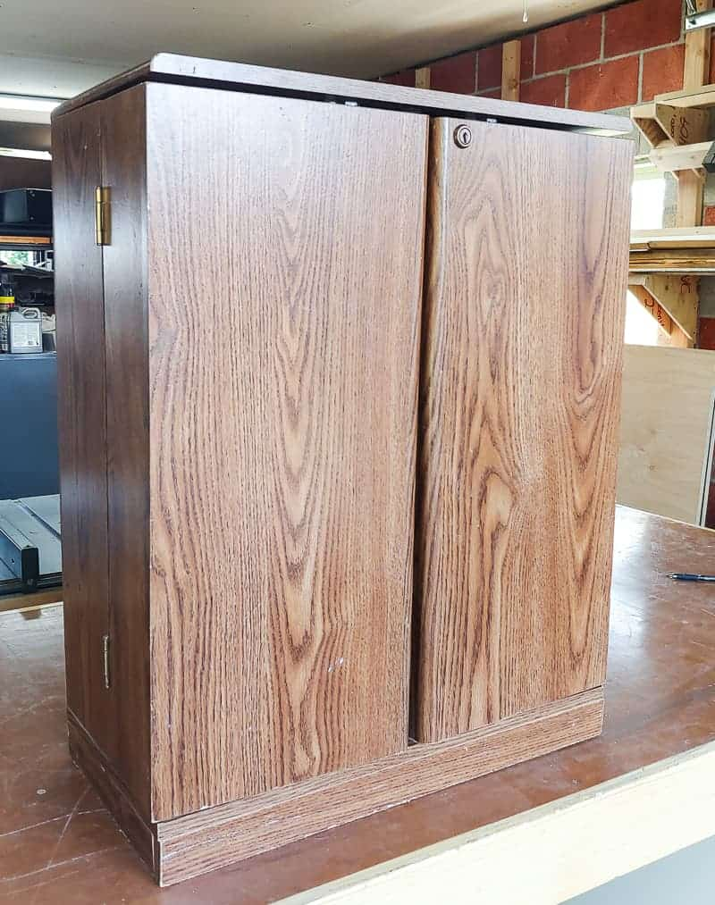Full image of laminate cabinet before makeover