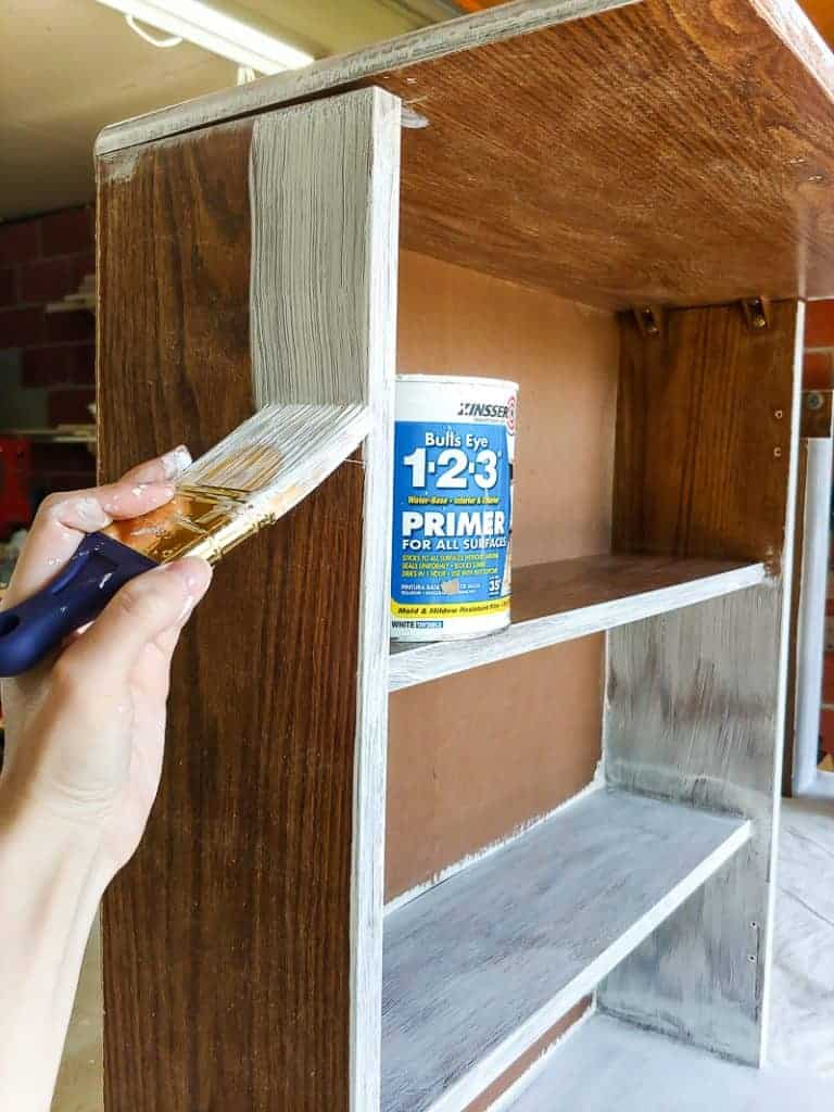 If you're painting laminate furniture (rather than real wood furniture), a primer is required to get good adhesion.