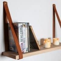 Leather Strap Shelf