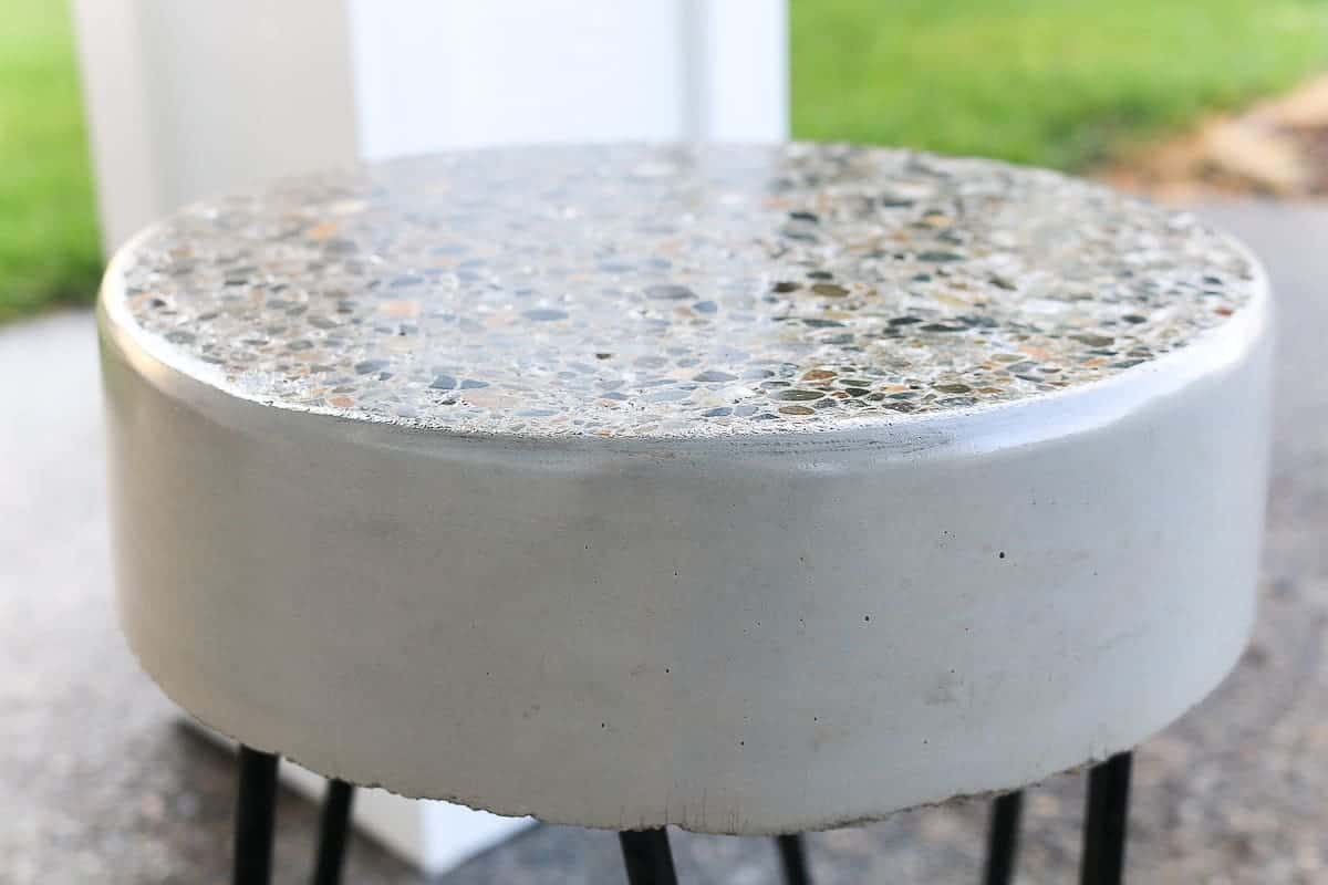 DIY concrete table top
