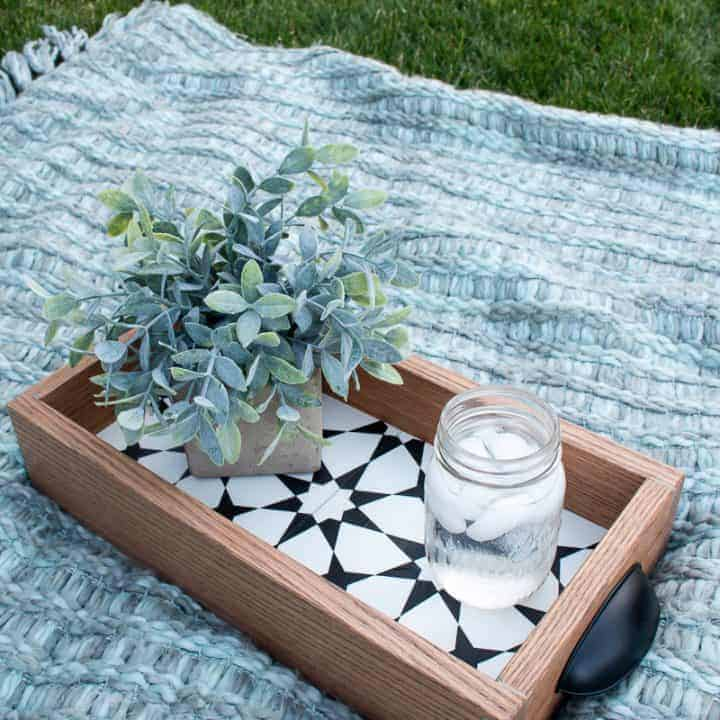 How To Make A DIY Tray With Leftover Cement Tile