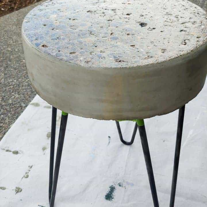 How to Make A DIY Concrete Side Table For Front Porch