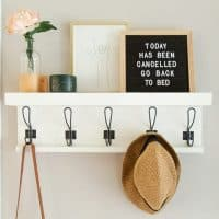 DIY Entry Shelf with Hooks