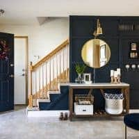 Modern Navy Small Entryway Makeover