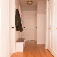 Small Entry Way Mudroom Makeover