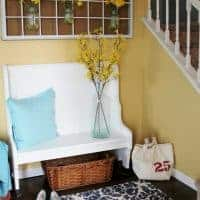 Entry Way Bench Gets Refresh With White Paint