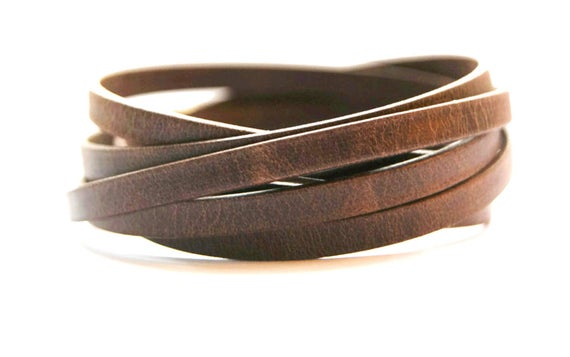Leather Wrapped Bracelets